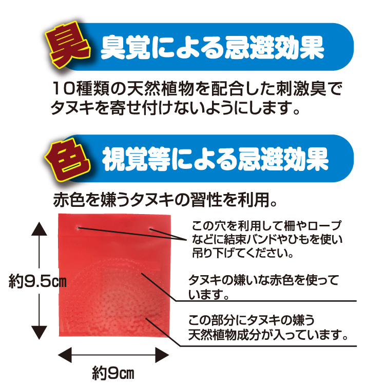 撃退タヌキ製品説明2